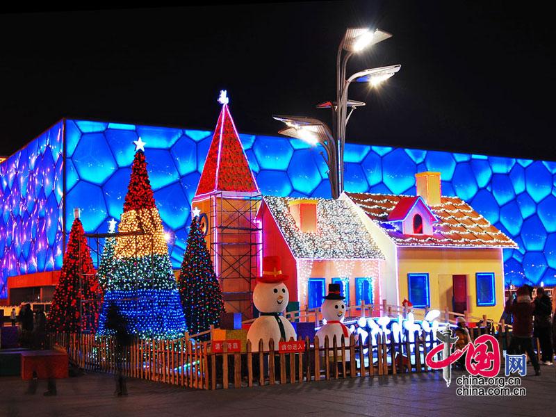 圣诞小屋扮靓奥林匹克公园