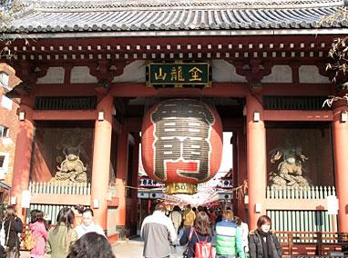 回到江户时代的浅草寺