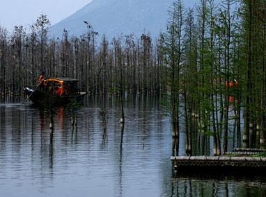 218 133 尚湖风景区位于常熟,中国十大城市湿地公园,国家四a级旅游区