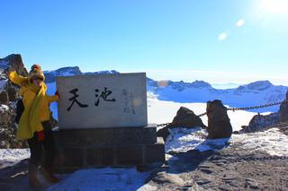 #带着微博去旅行#恋上白雪王国,长白山登顶之旅