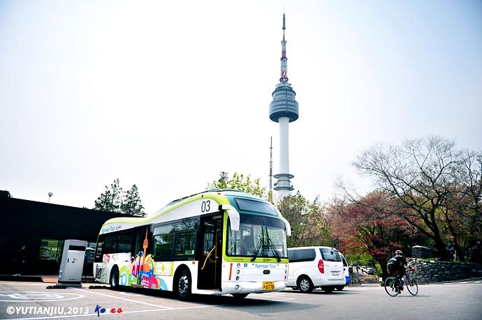 韩国路首尔> 南山 尊重自然的城上天空;