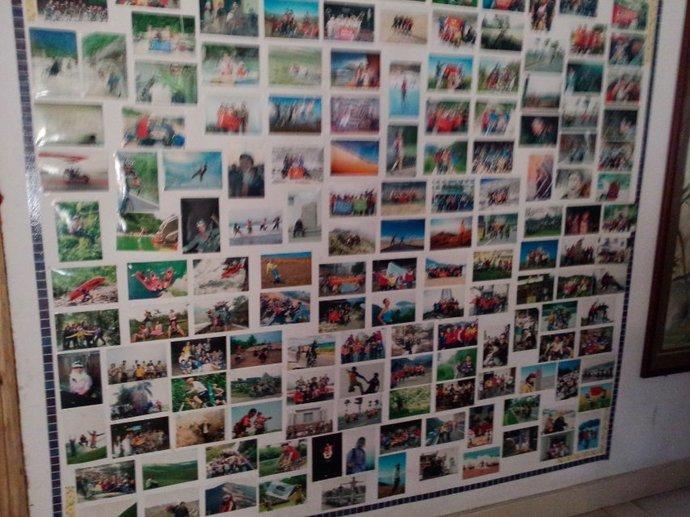 幼儿园毕业照片墙